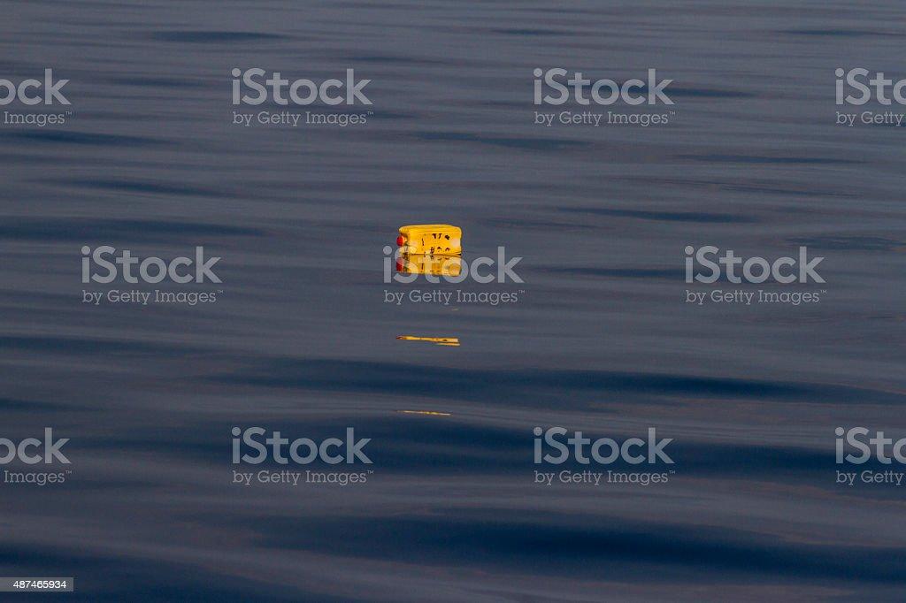 Yellow tank stock photo