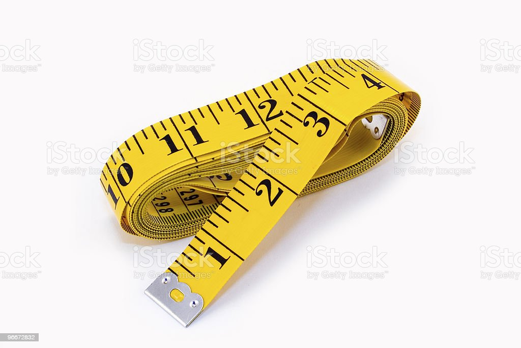 Yellow Tape Measure royalty-free stock photo