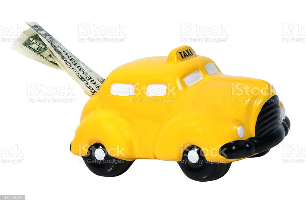 Yellow Taxi bank royalty-free stock photo