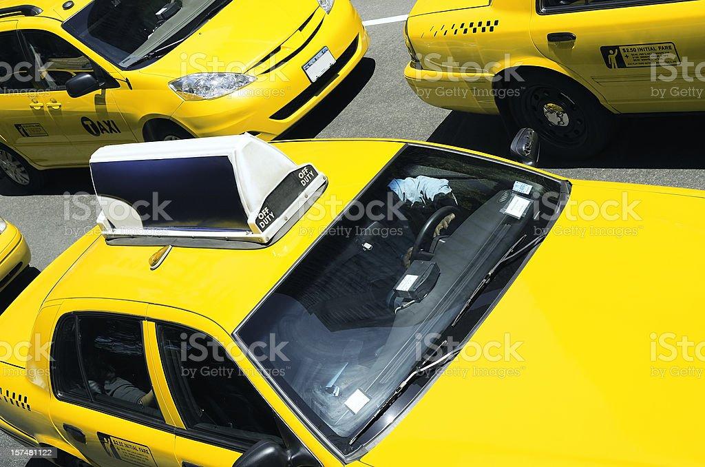 Yellow taxi cab stock photo