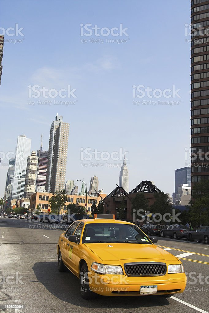 Yellow Taxi Cab royalty-free stock photo