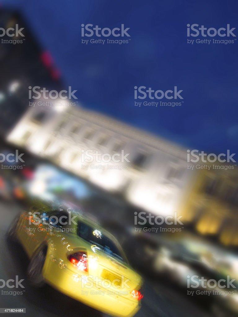 yellow taxi stock photo