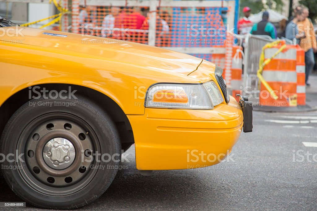 Yellow Taxicab in New York stock photo