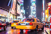 Yellow taxis on Times Square, New York