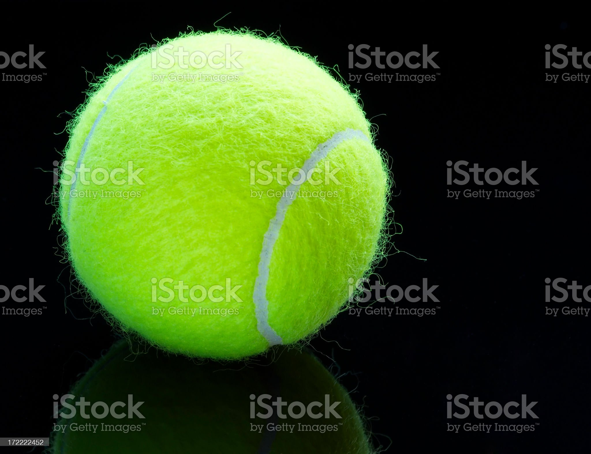 Yellow Tennis Ball royalty-free stock photo