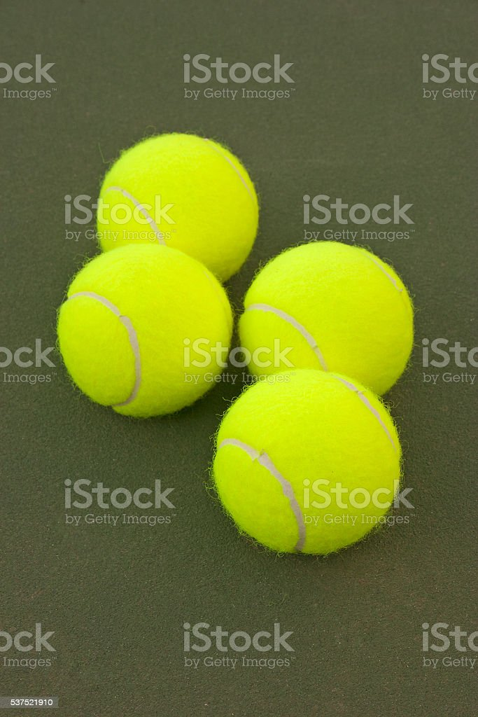 Yellow Tennis Balls - 10 stock photo