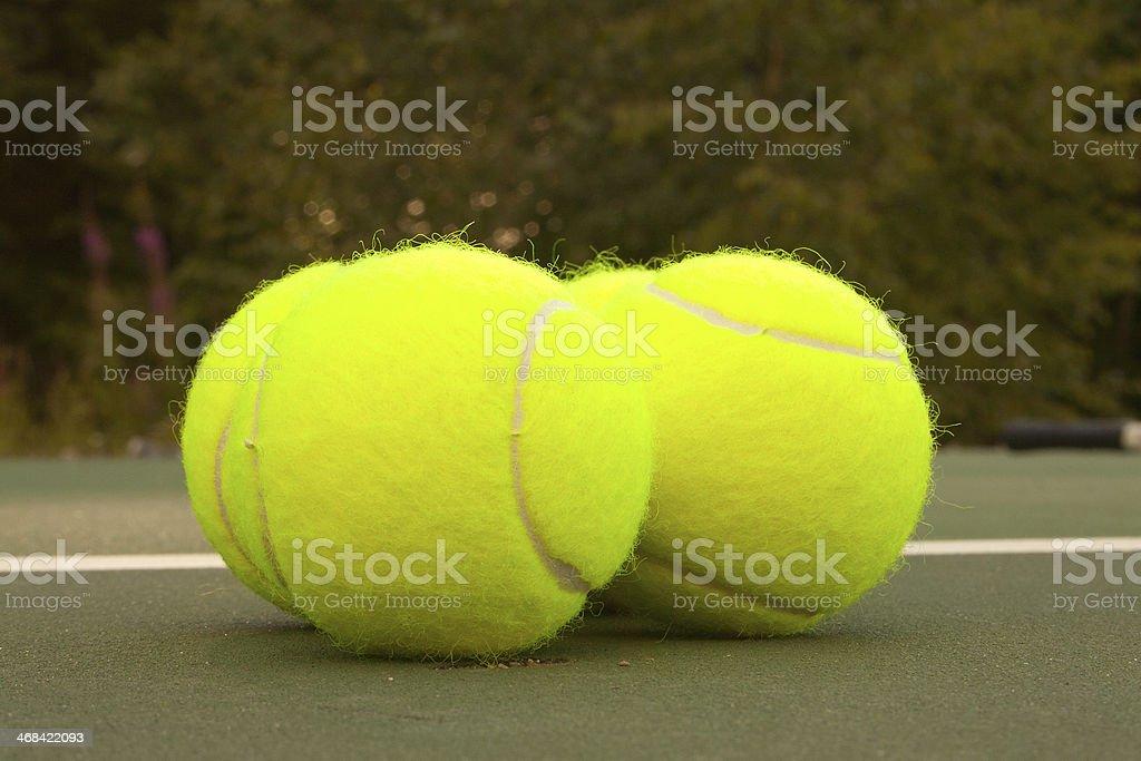 Yellow Tennis Balls - 16 royalty-free stock photo