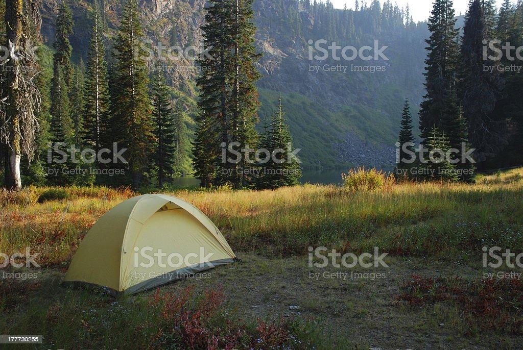 Yellow Tent royalty-free stock photo