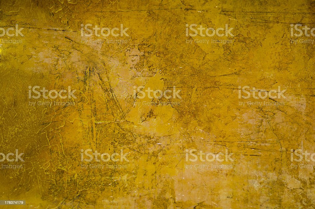 Yellow Textured and Distressed Paint Background stock photo