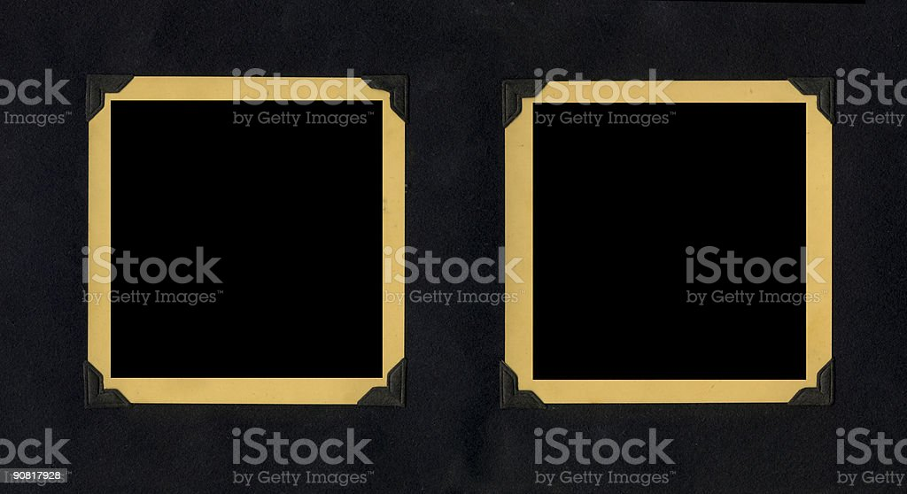 Yellow Tinted Vintage Frames/Borders royalty-free stock photo