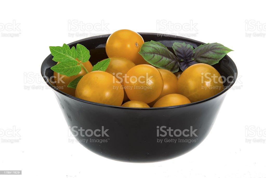 Yellow tomato royalty-free stock photo