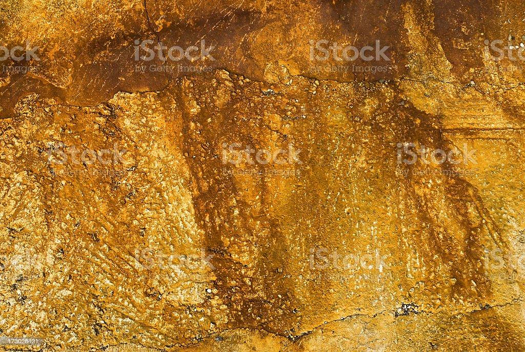Yellow tone concrete wall royalty-free stock photo
