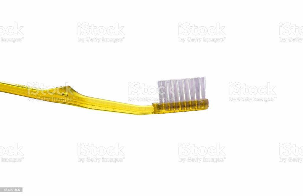 Yellow Toothbrush stock photo
