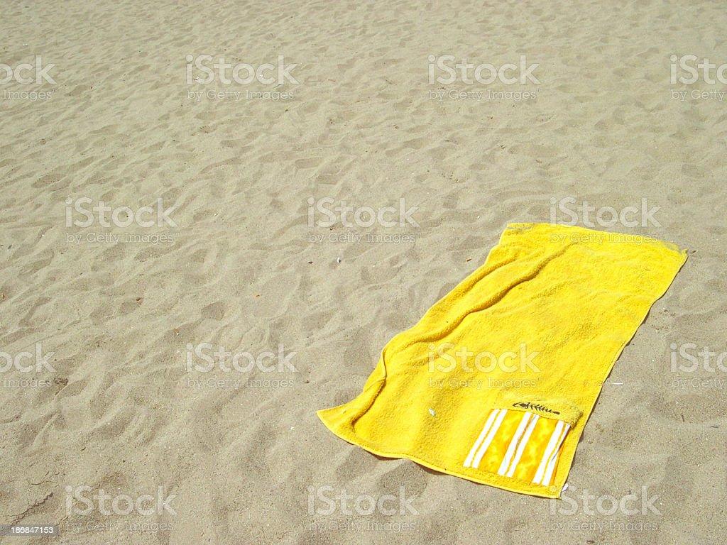 Yellow towel stock photo