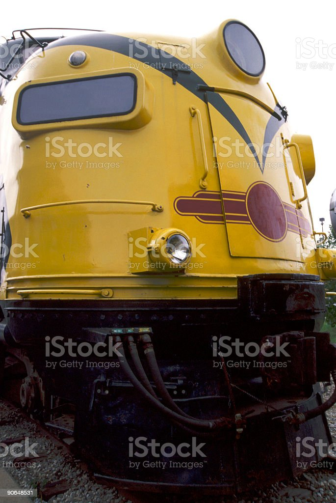 Yellow Train Engine royalty-free stock photo