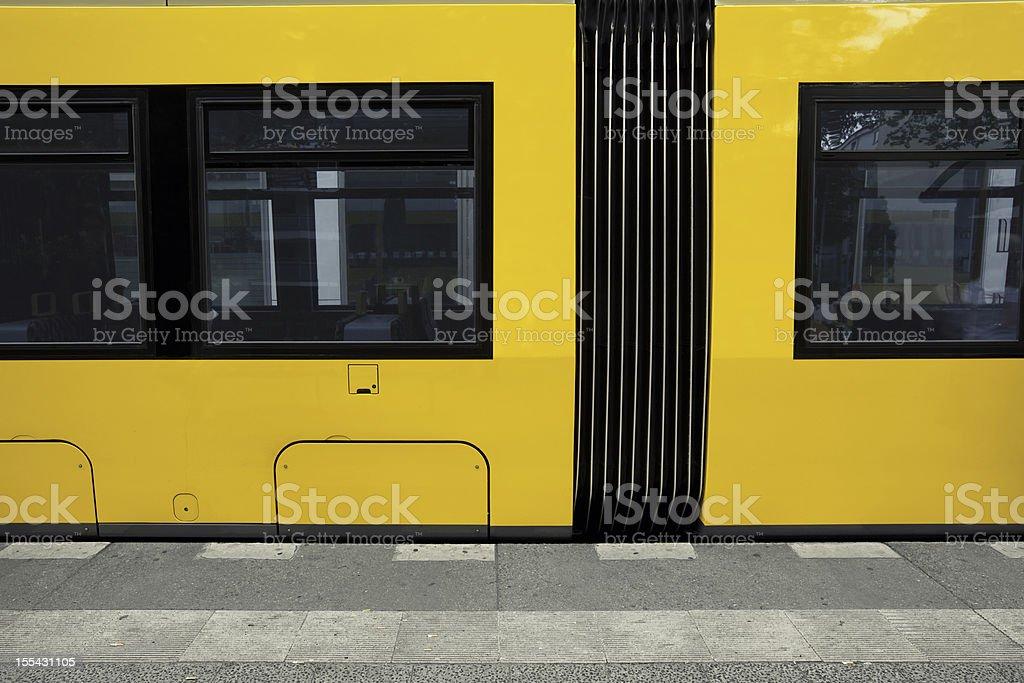 Yellow train stock photo