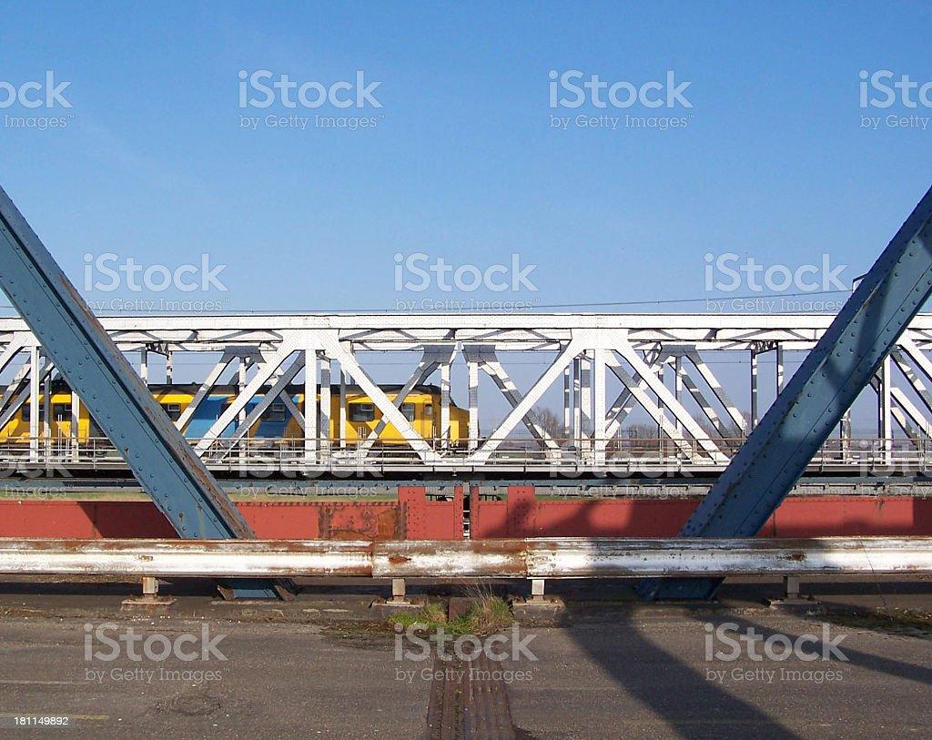 Yellow train royalty-free stock photo