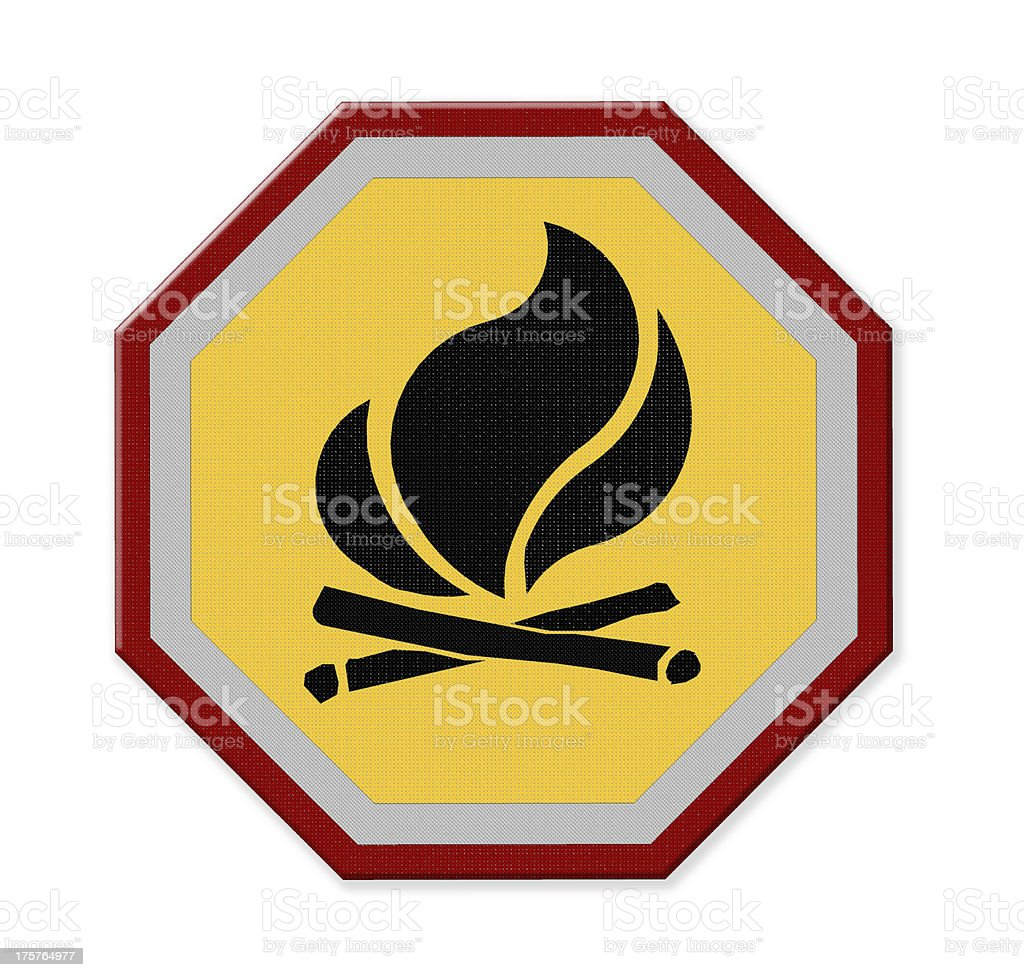 yellow triangle flammable warning sign royalty-free stock photo