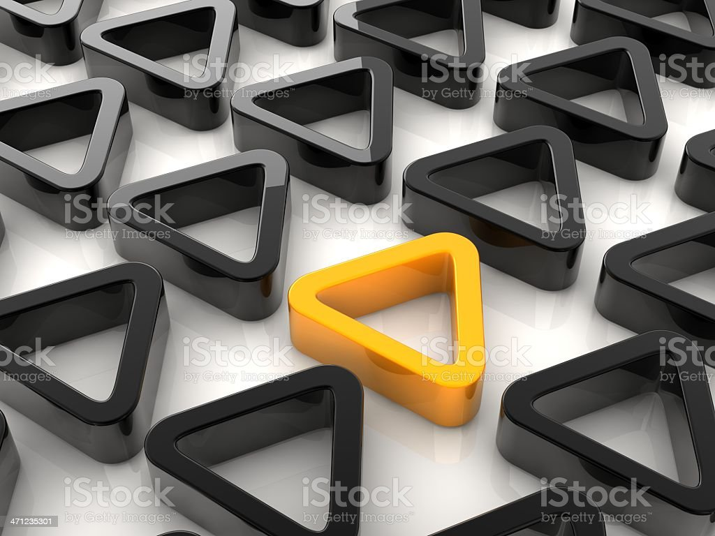 yellow triangle royalty-free stock photo