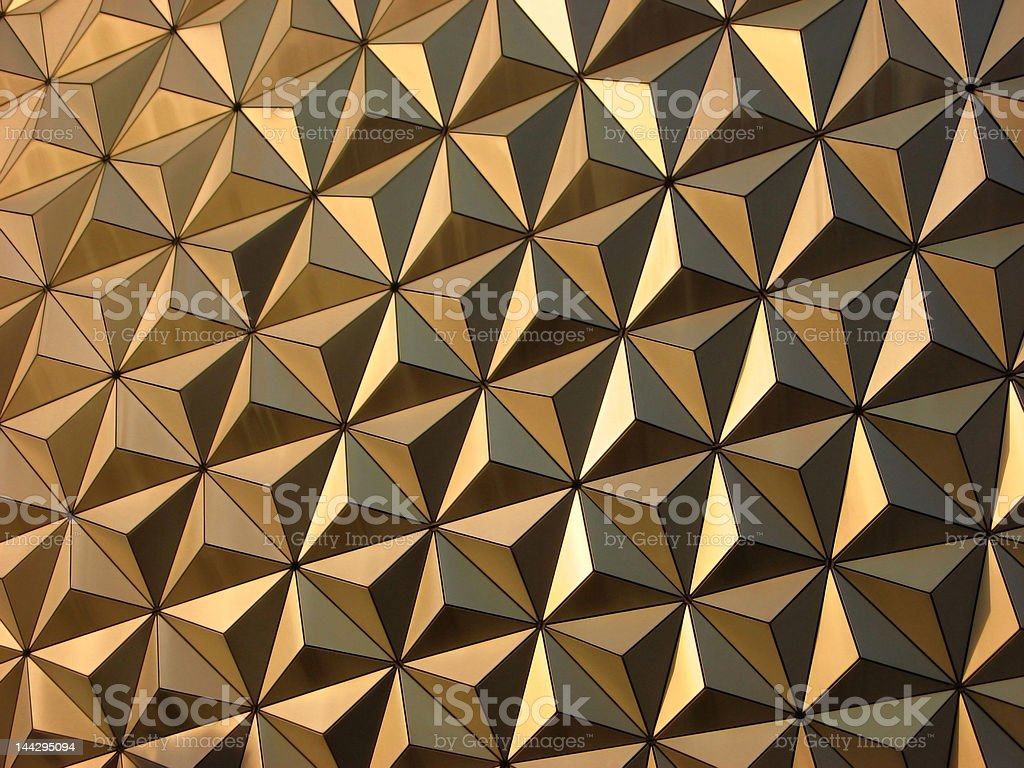 Yellow Triangles Background royalty-free stock photo