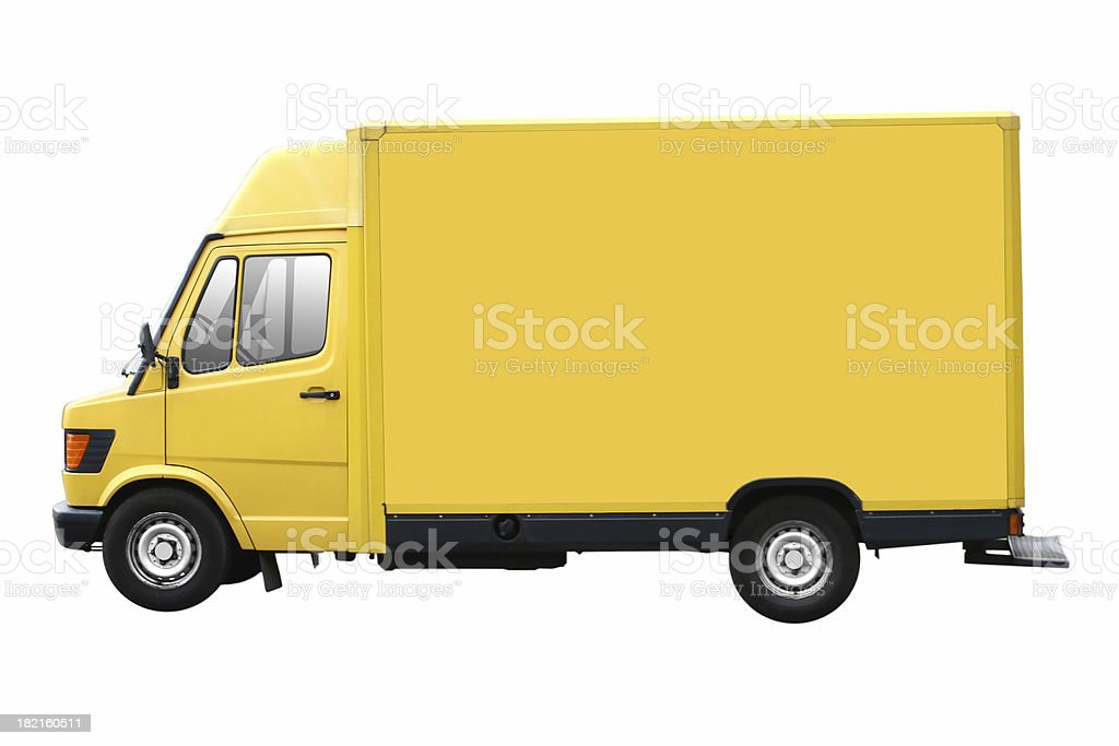 Yellow Truck Isolated royalty-free stock photo