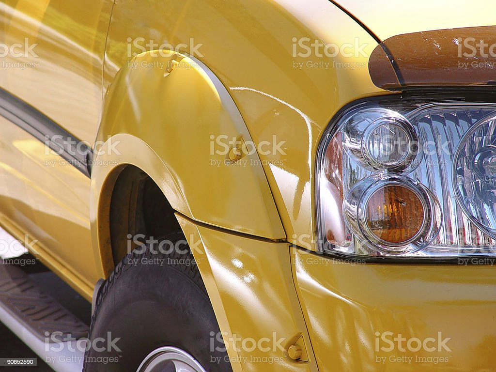Yellow truck royalty-free stock photo
