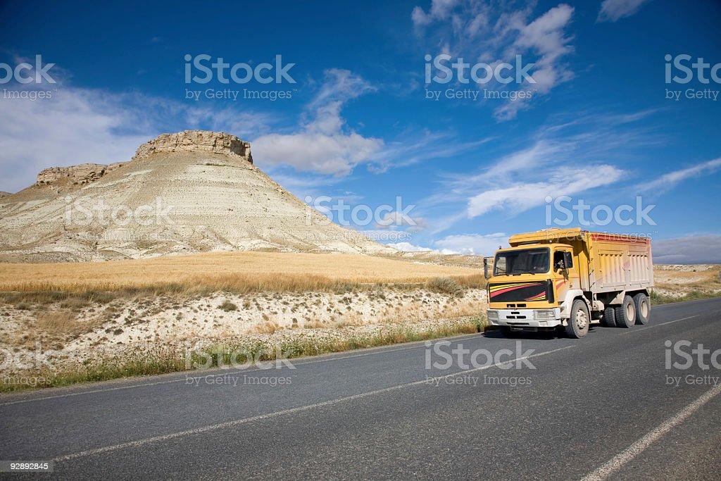 yellow truck royalty-free stock photo