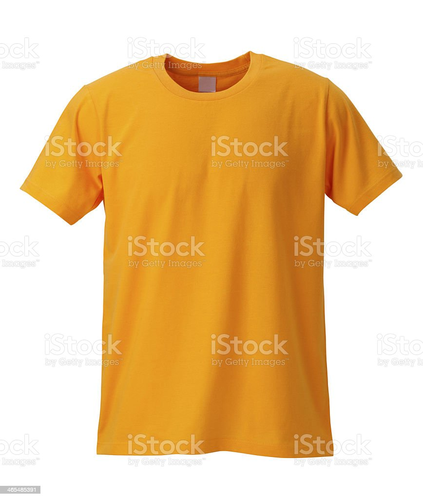 Yellow T-Shirt /clipping path stock photo