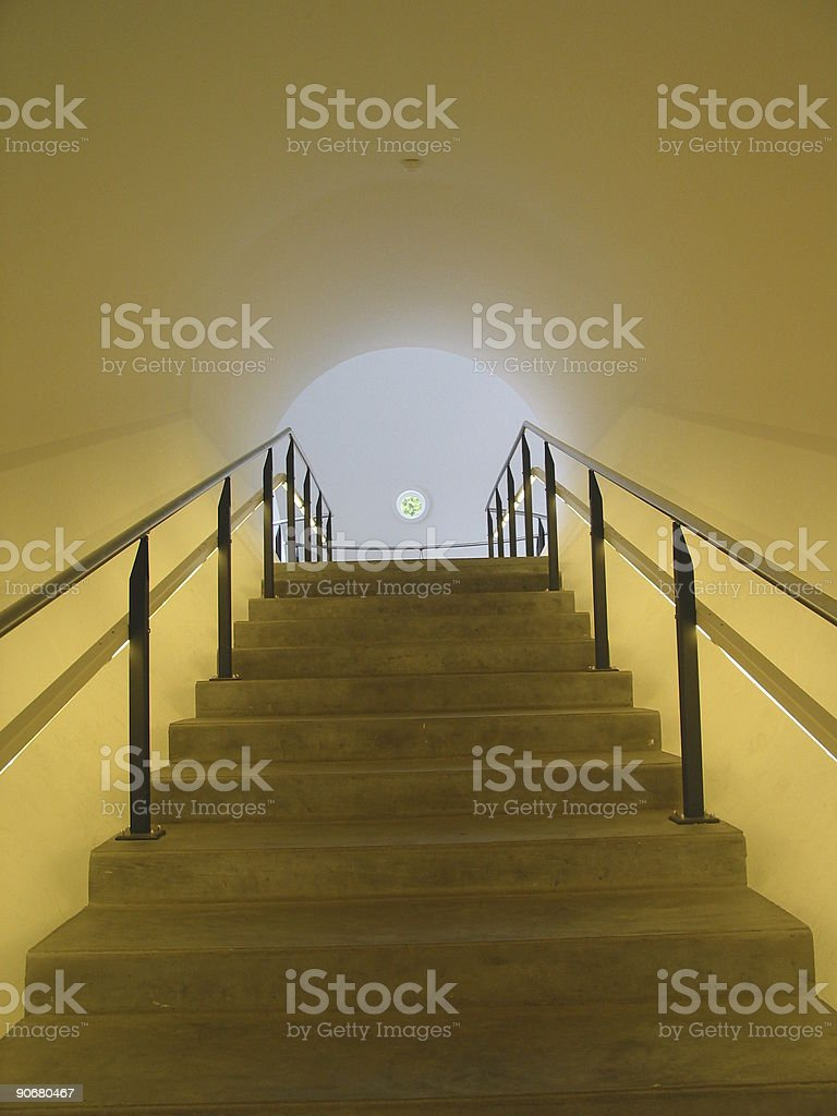 yellow tunnel royalty-free stock photo