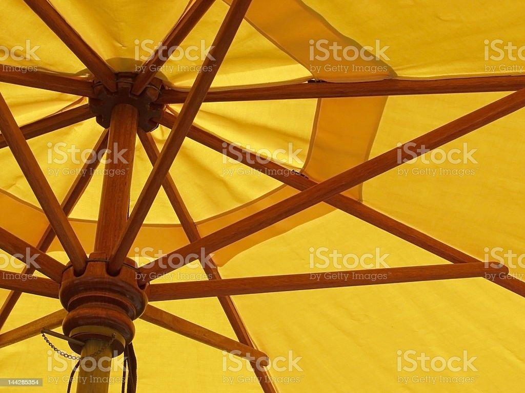 Yellow umbrella abstract stock photo