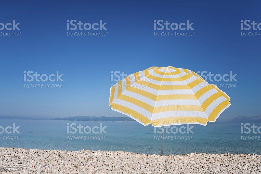 Yellow umbrella royalty-free stock photo