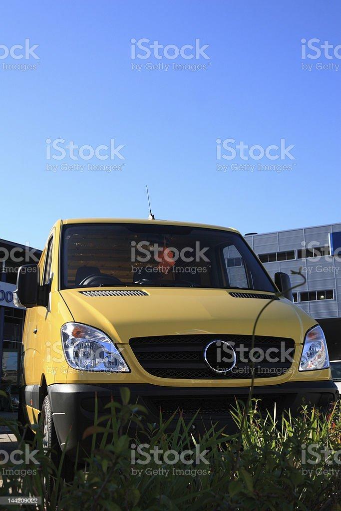 Yellow van royalty-free stock photo