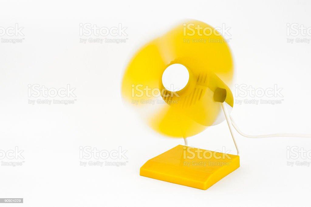 Yellow ventilator-2 stock photo