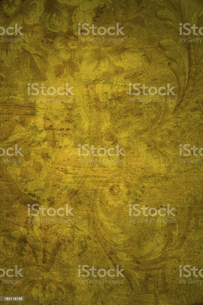 Yellow Victorian Background royalty-free stock photo