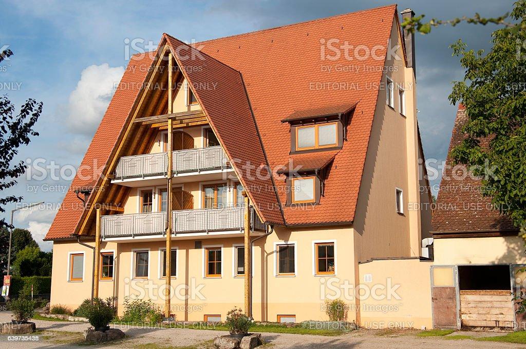 Yellow Villa in germany stock photo