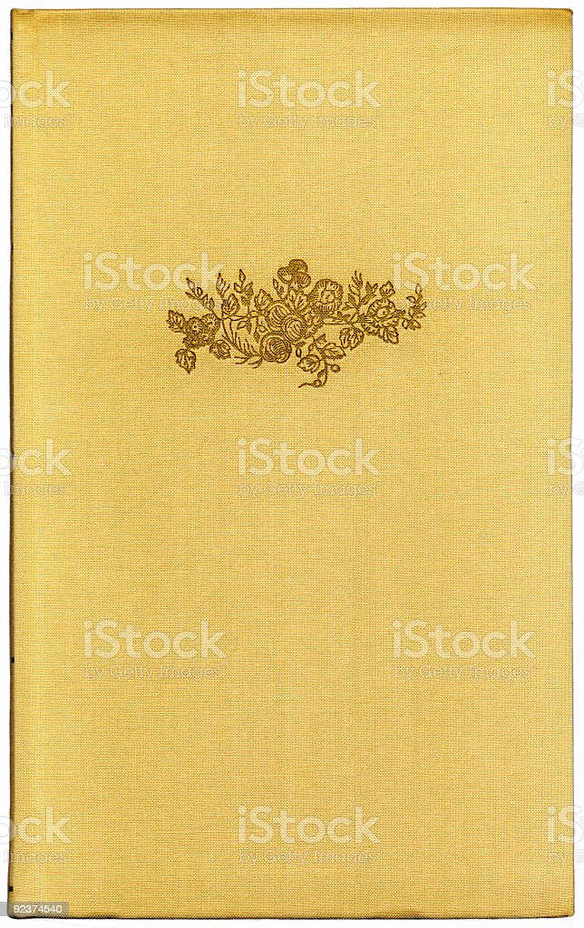 Yellow Vintage Book royalty-free stock photo