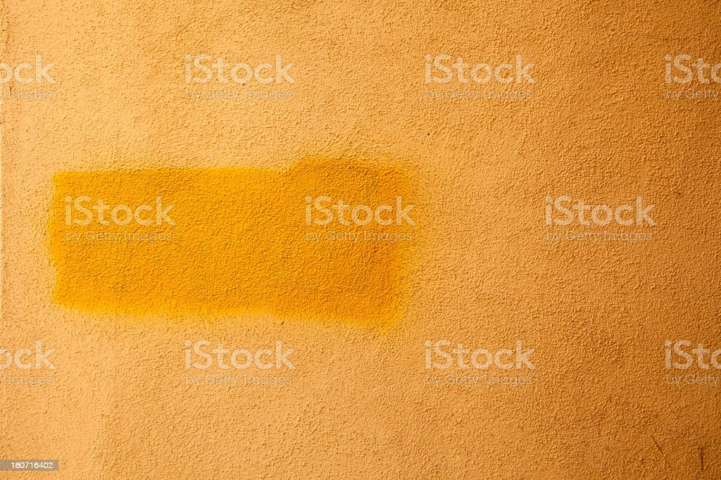 Yellow wall royalty-free stock photo
