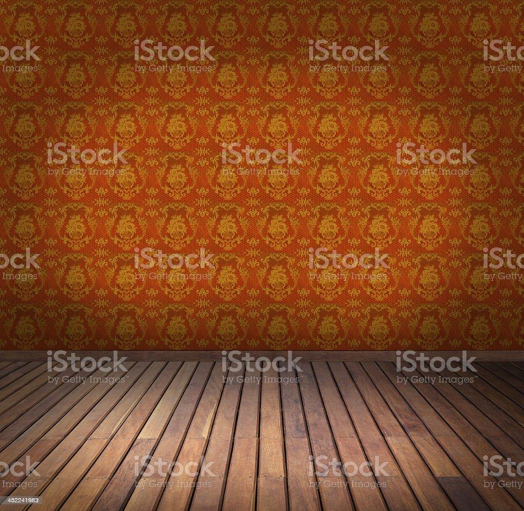 yellow wallpaper room royalty-free stock photo