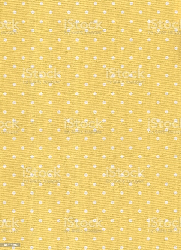 Yellow wallpaper with white dots stock photo