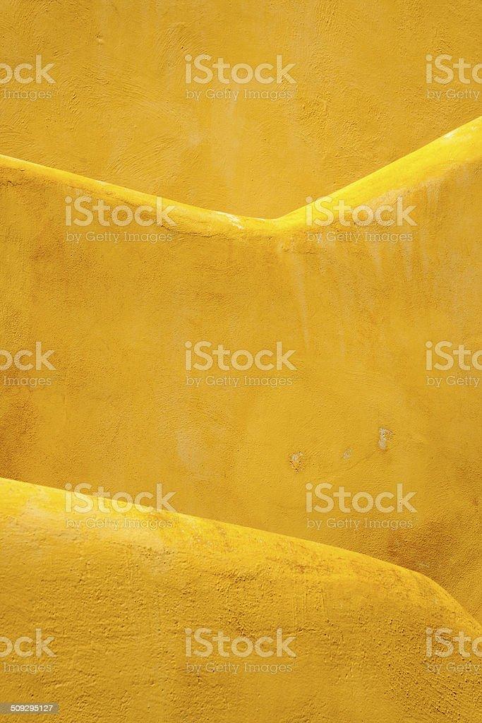 Yellow Walls on Procida, Bay of Naples, Italy stock photo