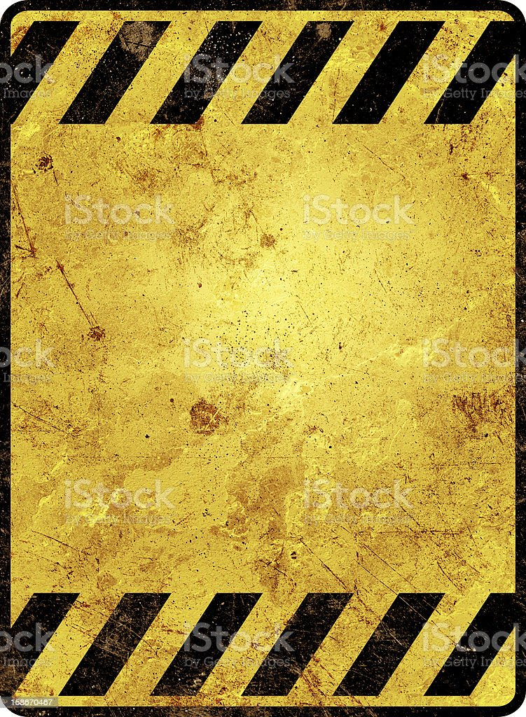 Yellow warning sign stock photo