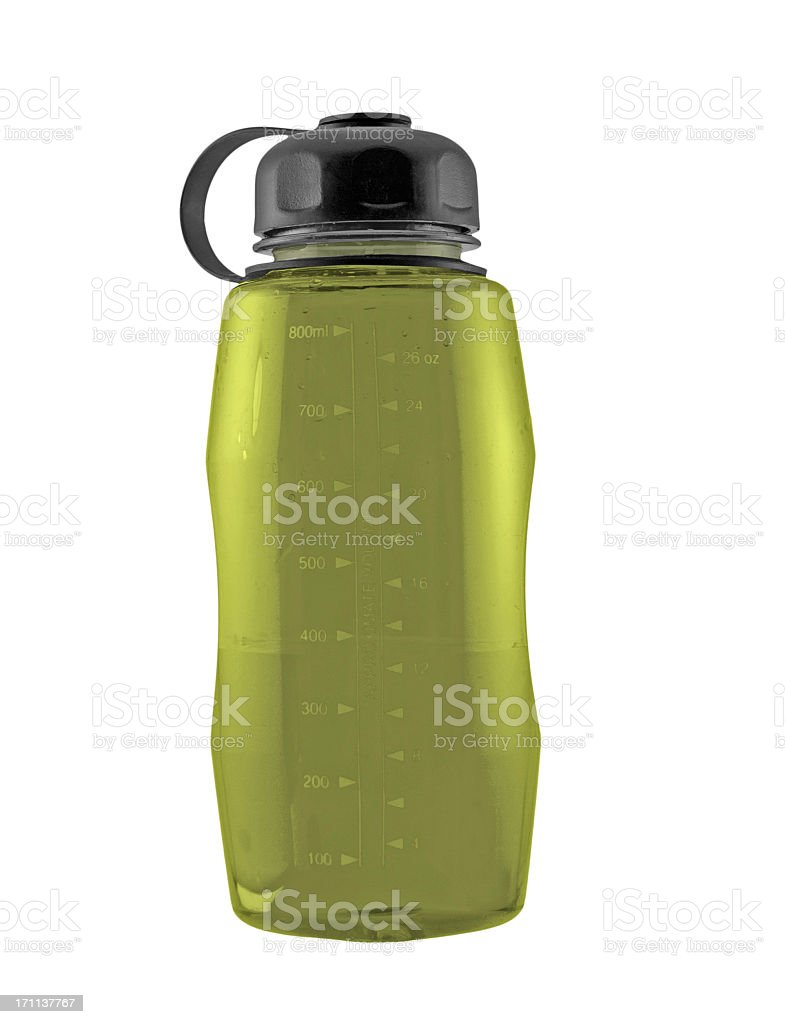 Yellow Water Bottle royalty-free stock photo