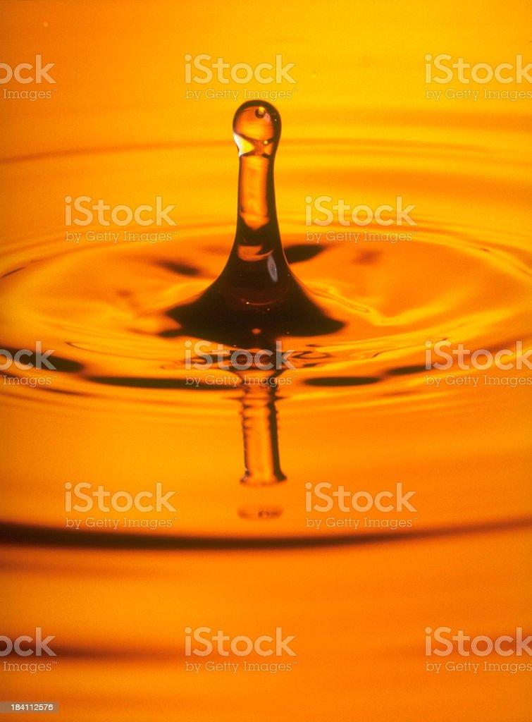 Yellow Water Drip stock photo