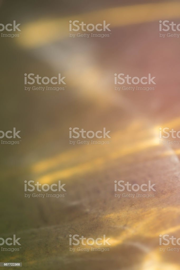 Yellow water light leaks stock photo