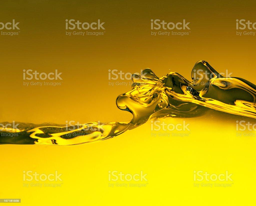 Yellow Water splash stock photo