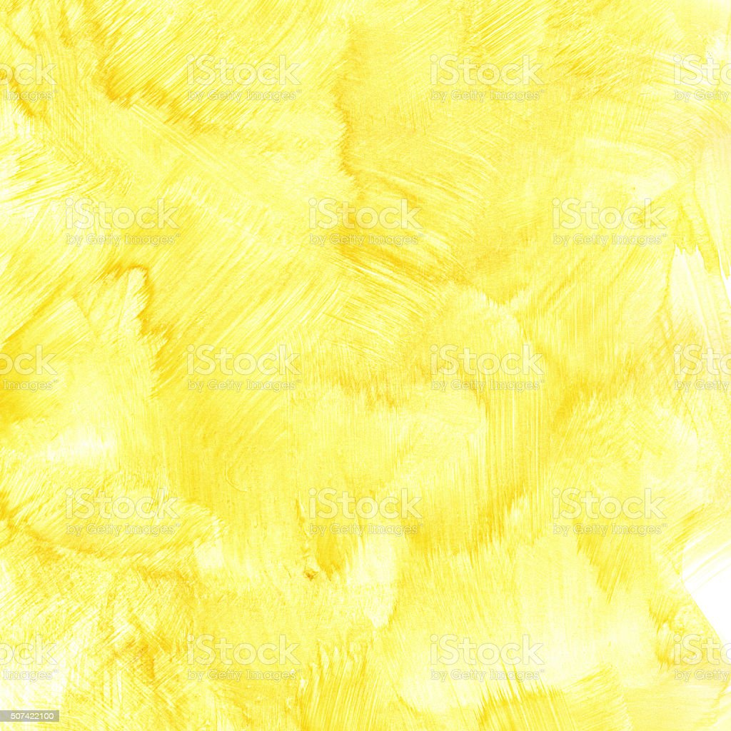 Yellow watercolor background stock photo