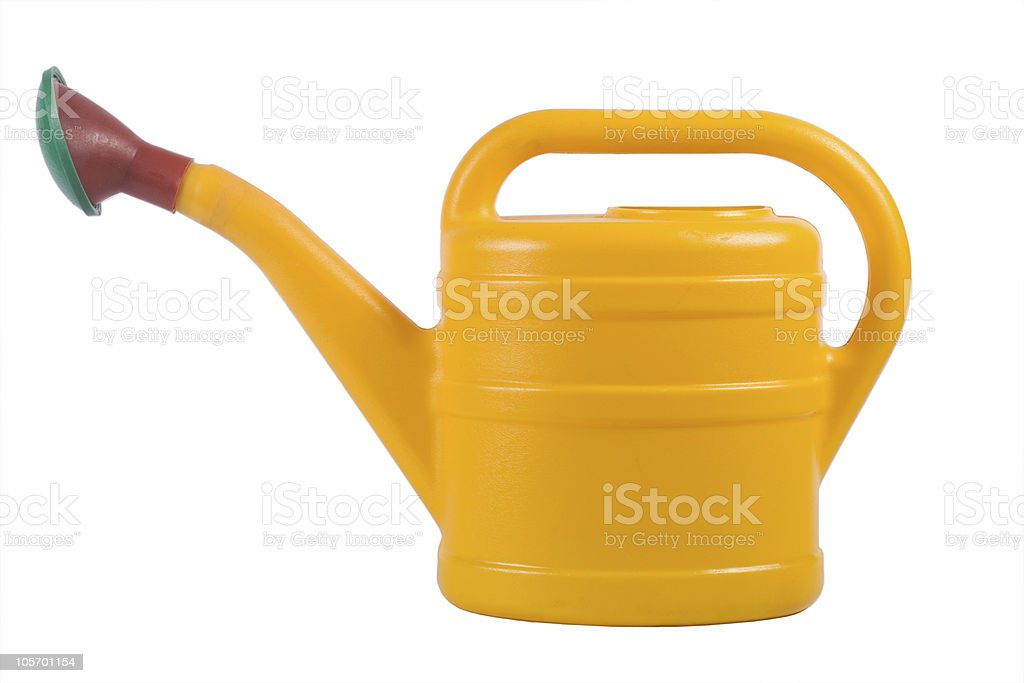 Yellow watering royalty-free stock photo