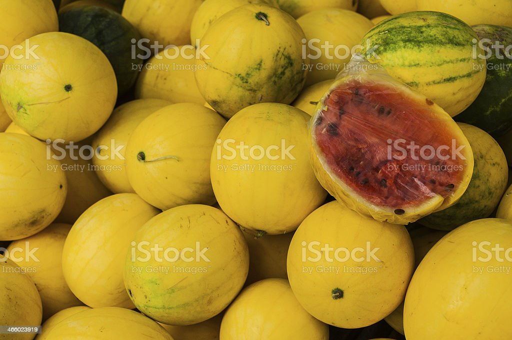 Yellow Watermelons stock photo