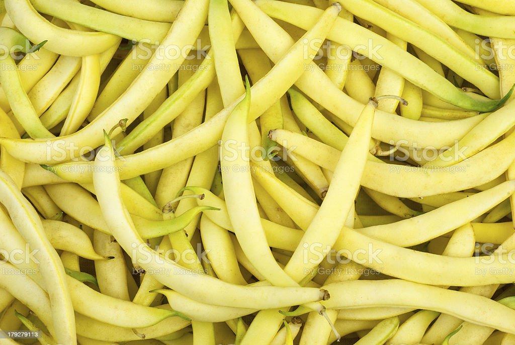 Fundo amarelo Cera de feijões foto de stock royalty-free