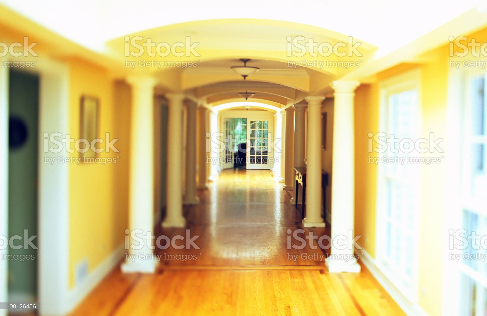 Yellow Way royalty-free stock photo